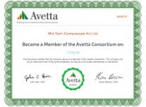 Avetta Membership Certificate