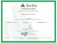 Avetta SSiP MTCA CDM Contractor Certificate